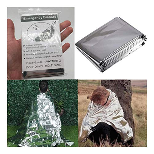 Emergency Blanket Thermal Survival Safety Solar Insulating Mylar Heat 84'' X 52'' by Unknown