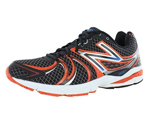New Balance Men's M870v2 Light Stability Running Shoe,Black/Red,13 D US