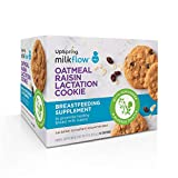 UpSpring Milkflow Fenugreek and Blessed Thistle Lactation Cookies, Oatmeal Raisin, 20 Count