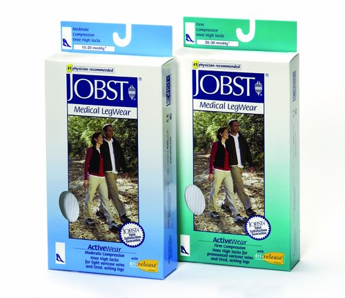 Jobst Active 20-30 Knee-Hi Socks Black X-Large by Marble Medical