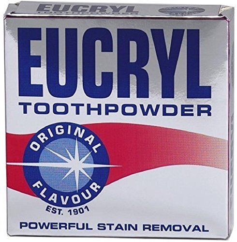 Eucryl Smokers Toothpowder Original 50g, Powerful Stain Remover (Pack of 6)