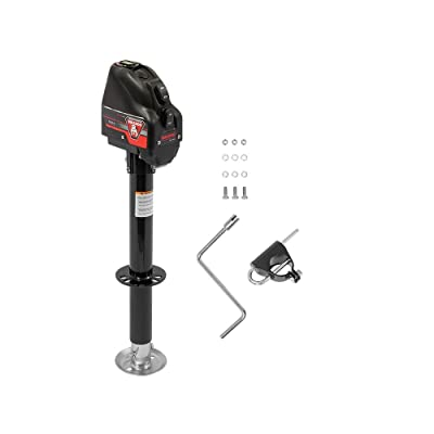Bulldog 500199 Powered Drive A-Frame Tongue Jack with Spring Loaded Pull Pin - 4000 lb. Capacity (Black Cover): Automotive