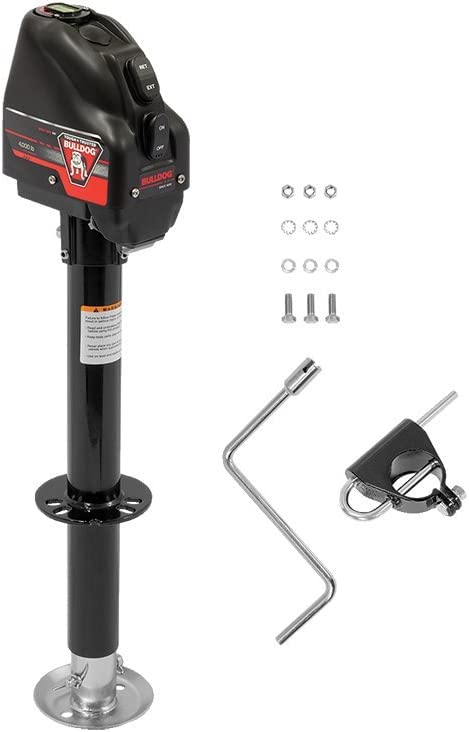 Bulldog 500199 Powered Drive A-Frame Tongue Jack with Spring Loaded Pull Pin