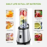 Personal Blender, Decen Mini Smoothie Blender with 2 x 20 oz Tritan BPA-Free Travel Bottles for Juices, Shakes, Smoothie and Baby Food, 300W