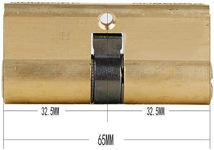 JCGZ 65 MM 32.5//32.5 del bomb/ín de la Puerta con 7 Cilindro Brass Key Color : Oro, Cylinder Size : 65mm