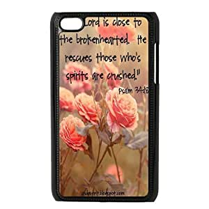 DIY Protective Snap-on Hard Back Case Cover for iPod Touch 4 with christian bible verses