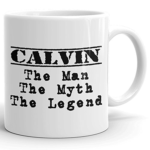 Best Personalized Mens Gift! The Man the Myth the Legend - Coffee Mug Cup for Dad Boyfriend Husband Grandpa Brother in the Morning or the Office - C Set 2