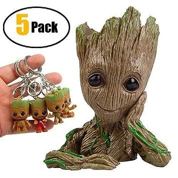 Groot Flowerpot Treeman figuras de acción - Guardianes de ...