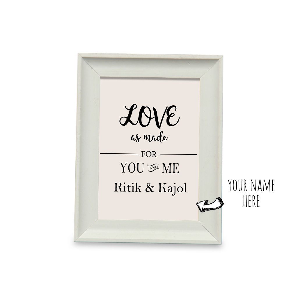 9f30148acc4e You and Me Personalized Name Photo Frame - Photo Frame 1, Home Décor Items,  Decorative Photo Frames, Table Top, Wedding Gifts, Anniversary Gifts, ...