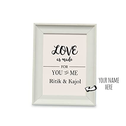 dc89f84955aa You and Me Personalized Name Photo Frame - Photo Frame 1, Home Décor Items,