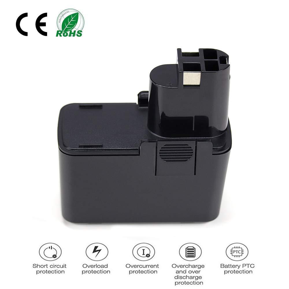 POWERGIANT 12V 3.0Ah Ni-MH Bater/ía para Bosch PSR 12V PSR 12VE-2 GSR 12-2 GSR 12VE-2 PSB 12VE-2 2607335273 2607335709 2607335430 2607335261 BAT045