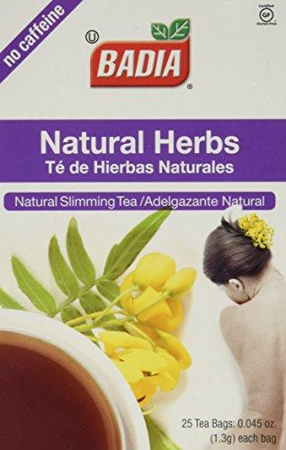 Badia Natural Herbs Tea Bags 25-Count (Pack of ()