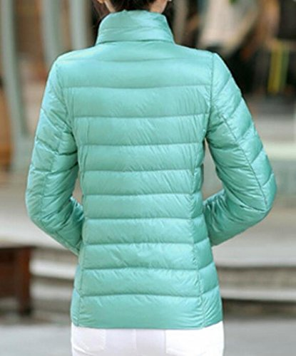 Stand Lightweight Short Women's Collar MU2M Puffer Down Coats Blue Packable Jackets pUfqOE