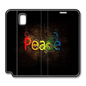 Samsung Galaxy Note 3 Case Leather,Peace Rainbow Slim Leather Flip Case Cover for Samsung Galaxy Note 3/ Note III/ N9000 with Stand Feature Auto Wake Up / Sleep, Original Design And Made By PhilipHayes