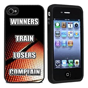 IP4 Basketball Winners Train Loosers Complain For Apple iPhone 4 or 4s Case / Cover All Carriers