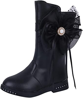 DAY8 Bottine Fille Hiver Chaude Boots Fille Cuir PU