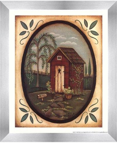 彼女Outhouse by Kim Lewis – 9 x 11インチ – アートプリントポスター 8 x 10 Inch LE_211585-F9935-9x11 B01NBXKVSG Stainless Steel Wood Frame