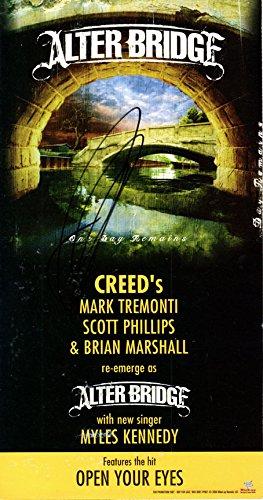 Mark Tremonti Alter Bridge - Alter Bridge Mark Tremonti Autographed Promo Card AFTAL UACC RD COA
