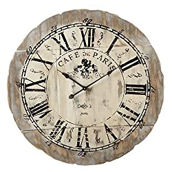 Midwest-CBK 126266 Distressed Brown Wall Clock