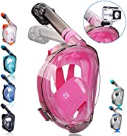 QingSong Full Face Snorkel Mask, Snorkeling Mask with Advanced Safety Breathing System, Give You A Natural &am