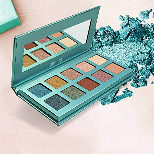 CIBBCCI Professional 10 Colors Pigmented Eye Shadow Palette Pop Colors - 3 Matte + 7 Shimmer - Creamy Texture Blendable Eyeshadow Makeup Kit