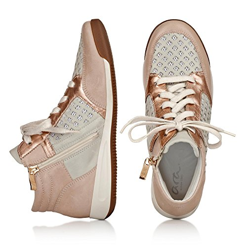 Ara Lady Room 12-34496 Hohe Sneaker Night / Clo, Ro / Wei