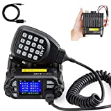 QYT KT-8900D Dual Band Mini Car Ham Radio Mobile Transceiver VHF UHF 136-174/400-480MHz Compact Amateur Two Way Radios + Free Programming Cable