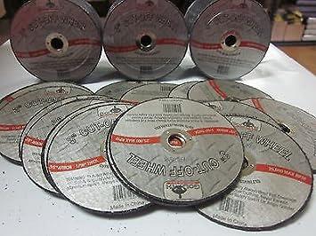 ~ 100~3 x 1//16 thick x 3//8 AIR METAL CUT OFF WHEEL CUTTING DISC 25,000 RPM