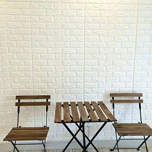 PrecisionDecor 3D Brick Wall Stickers Panel Self-Adhesive Peel and Stick White Faux Brick for Wall Decor 30X28INCH (20 PC) by PrecisionDecor (Image #1)