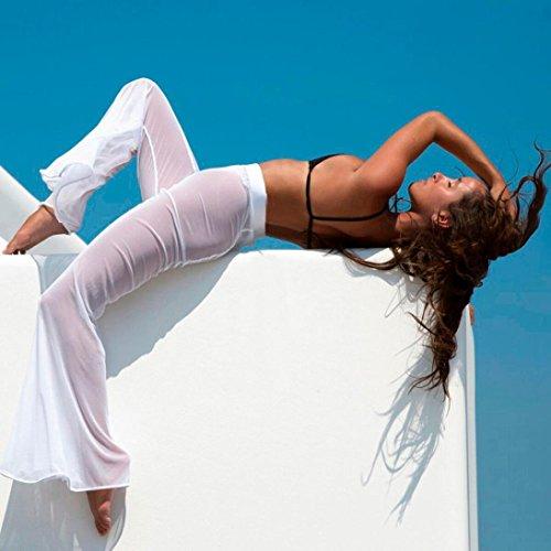 dabbb09115f8 Women's Beach Mesh Pants, Ladies Sheer Transparent Bikini Cover up Swimwear  Long Pant Trousers