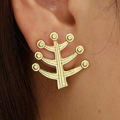 Monowi Boho Women Simple Geometric Circle Ear Stud Drop Dangle Earrings Fashion Designs | Model ERRNGS - 4718 - Crislu Earrings Emerald