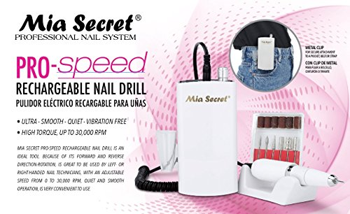 Mia Secret - PROFESSIONAL Pro-Speed Rechargable Nail Drill NEW ITEM ! by Mia Secret