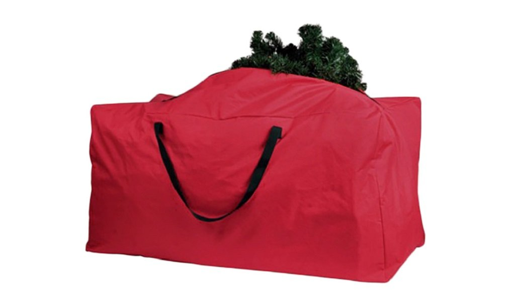 WorkTd Christmas Tree Storage Bag Containers For 6-9-Feet Trees 65'' X 30'' X 15'' Thick Oxford Fabric Waterproof Zippered Xmas Tree Bag