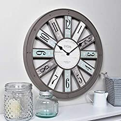 FirsTime & Co. Numeral Spokes Wall Clock, 16, Warm Gray