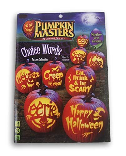 Pumpkin Masters Choice Words Halloween Pumpkin Carving Pattern Book - 8 Designs