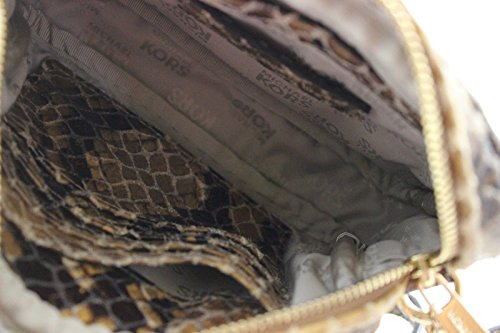 Michael Kors Hamilton SM Crossbody Sand Python Embossed Leather