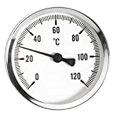 63mm 0 - 120C Thermo Water Oil Temperature Gauge 1/2 inch Rear Entry Thermometer by Ferro