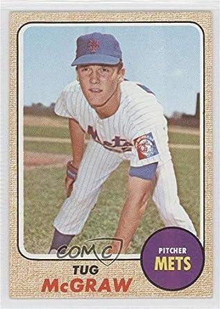Amazoncom Tug Mcgraw Baseball Card 1968 Topps Base 236