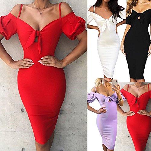 Cerimoniale Donna Cocktail Sera Abiti Elegante Rosso Nero Festa Weant Lungo Donna Estate Lunghi Veste Sexy Dress Gonna Viola Abito Vestito Spiaggia Lunga AR5q5Hgw