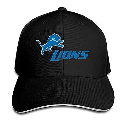 Boomy Detroit Blue Lions Baseball Cap Hat Black