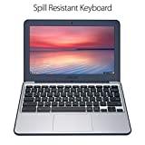 "ASUS Chromebook C202SA-YS02 11.6"" Ruggedized and Water Resistant Design with 180 Degree (Intel Celeron 4 GB, 16GB eMMC, Dark Blue)"