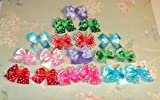 30 Dog Grooming Hair Bows – Valentine's Day Collection- variety colors and decorated with Hearts, My Pet Supplies