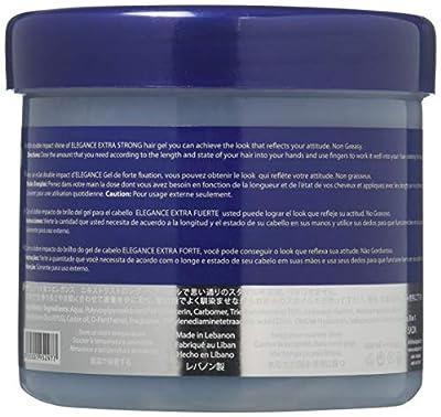 ELEGANCE GEL Extra Strong Protection Medium Hold Hair Gel, 17. 4 Oz