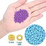 EuTengHao 13200pcs Glass Seed Beads Small Craft