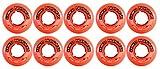 Revision Wheels Inline Roller Hockey Clinger Goalie Orange 47mm 82A 10-Pack