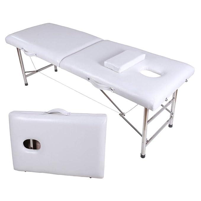 Camillas masajes plegables Terapia ligera portátil de 2 secciones ...