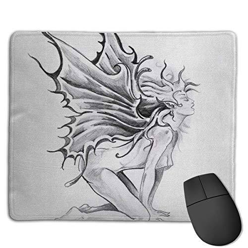 Woman with Butterfly Wings High Speed Surface Desk Pad Gaming Mousepad -