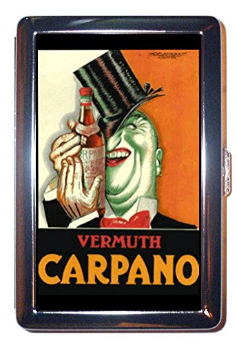 Vermouth Carpano Italy WILD Stainless Steel ID or Cigarettes Case (King Size or - Vermouth Italy