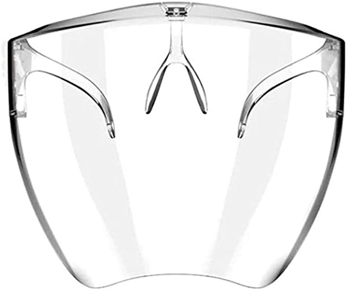 Amazon.com: attaincafe Safety Mask Integrated Protective Glasses Goggles, Male and Female Transparent Safety Shields, Kitchen Anti-Sputum, Sneeze, and Oil Splash Protection Panels