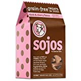 Sojos Crunchy Natural Grain Free Dog Treats, Duck & Cherry, 10-Ounce Box